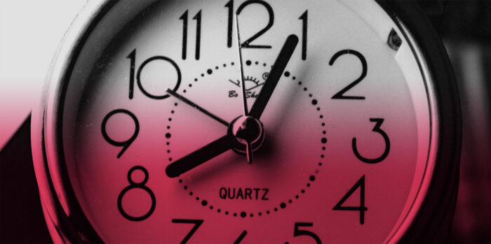 red and black clock image