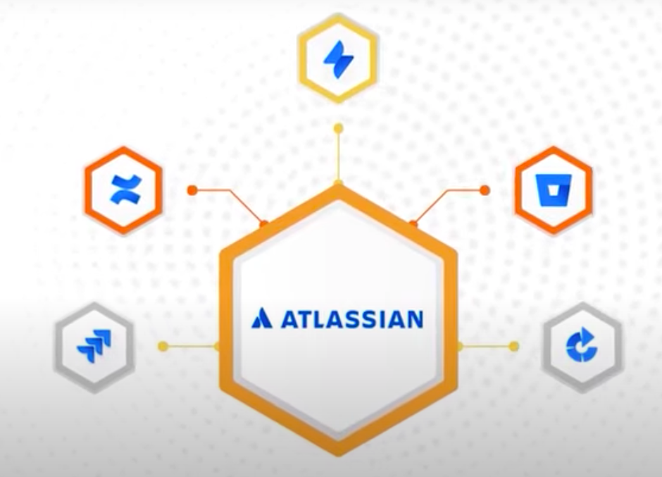 Atlassian app graphic symbolizing connected apps