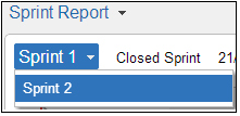 Selection of relevant sprint in Jira