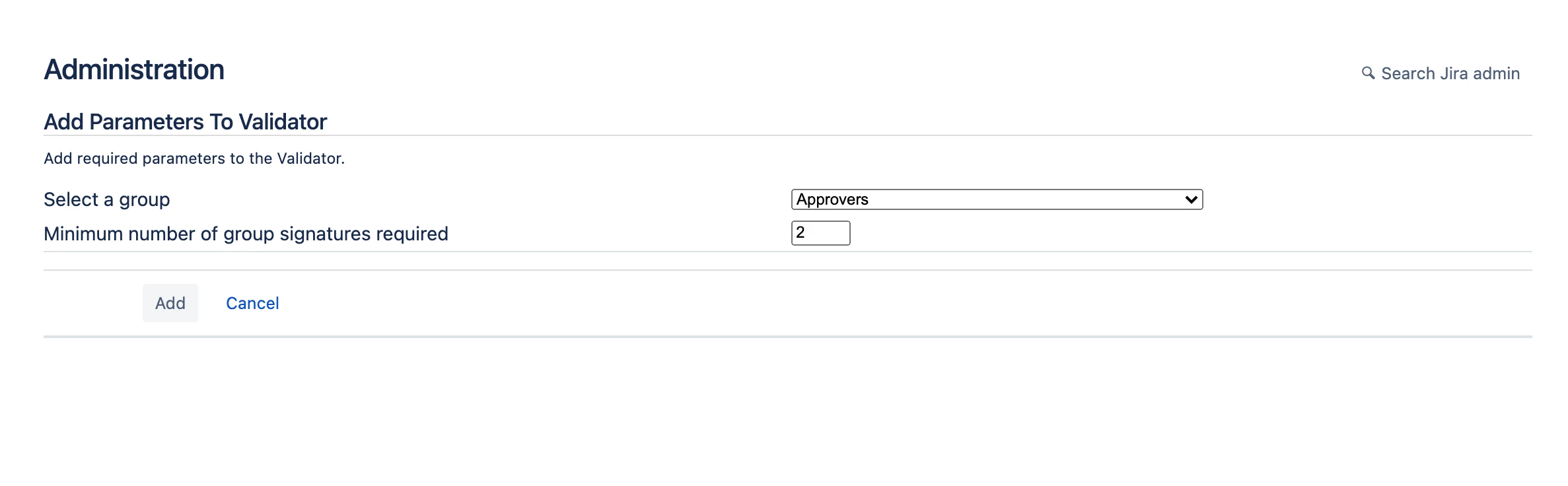 Validator in Electronic Signatures for Jira