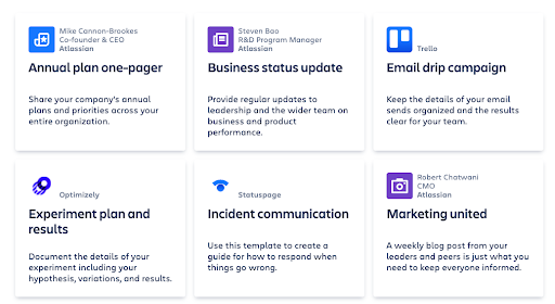 View of Jira Templates